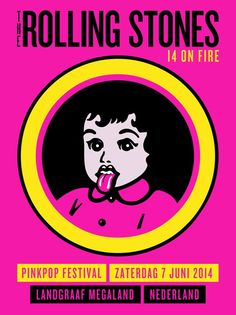 The Rolling Stones Pinkpop Gig Poster