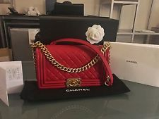 Brand New Chanel Boy Bag Old Medium Red With Gold Hardware- Comes With Receipt
