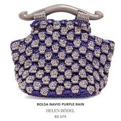crochet purple rain purse helen rodel