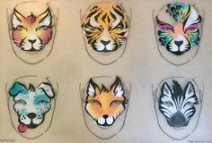 Frida Haas animal board Like the tiger! Face Paint Set, Kitty Face Paint, Zebra Face Paint, Animal Face Paintings, Animal Faces, Face Painting Unicorn, Body Painting, Face Painting Designs, Paint Designs