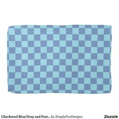 Checkered Blue/Gray and Pastel Blue Towels
