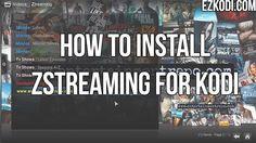 How To Install Ztreaming For Kodi http://ezkodi.com/kodi/how-to-install-ztreaming-for-kodi/