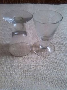 Port Glasses/A pair port or sherry/shot glasses by 1940to1980home