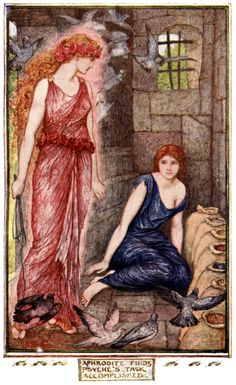 Cupid and Psyche - The Red Romance Book by Andrew Lang, 1921