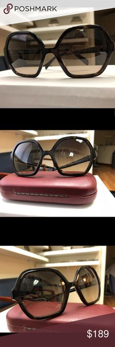 PRADA BRAND NEW DESIGNER AUTHENTIC EYEGLASS FRAME BRAND NEW DESIGNER AUTHENTIC EYEGLASS OPTICAL FRAME MODEL SPR06S BROWN COLOR LENSES MADE IN ITALY  ACETATE TORTOISE COLOR MATERIAL  UNIQUE VINTAGE SHAPE ANY PRESCRIPTION WELCOME  SIZE 56 mm BRIDGE 18mm TEMPLES 135mm HARD CASE ENCLOSED BUT NOT ORIGINAL Prada Accessories Sunglasses