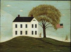 House with Flag - Warren Kimble