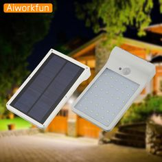 2017 New Design High bright Solar LED street light 450lm PIR motion sensor wall lamp outdoor building light intergrated poolside makeover *** AliExpress Affiliate's Pin.  Details on this product can be viewed by clicking the image