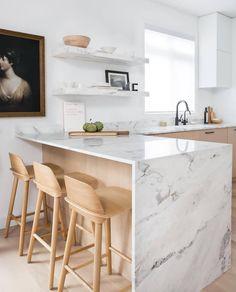 Modern Kitchen Design Trending: Blonde Wood and Mixed Woods Kitchen Room Design, Modern Kitchen Design, Home Decor Kitchen, Rustic Kitchen, Interior Design Kitchen, Home Kitchens, Kitchen Ideas, Kitchen Designs, Diy Kitchen