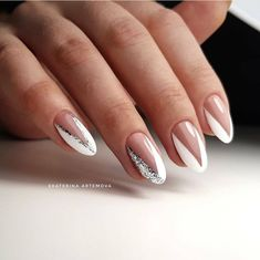 Ideas fun bridal nails french tips French Nails, Bridal Nails French, Nail Swag, Nail Tip Designs, Gel Nagel Design, Nagel Hacks, Diva Nails, 3d Nails, Bride Nails