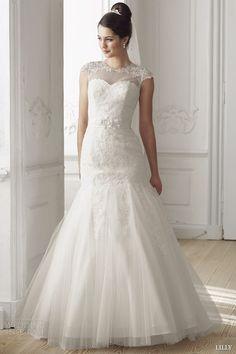 http://weddinginspirasi.com/2014/07/15/lilly-2014-wedding-dresses/ lilly #bridal 2014 illusion cap sleeve wedding dress strapless gown #weddingdress #weddings