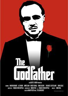 The Godfather - Filmes | Posters Minimalistas