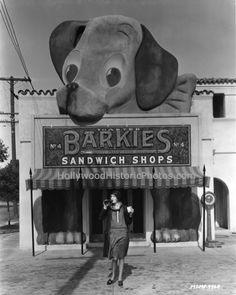 Barkie's Sandwich Shops in Hollywood, 1929