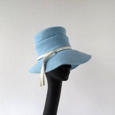Vintage 1960s Hat / Mr John Hat / Wide by SmallEarthVintage