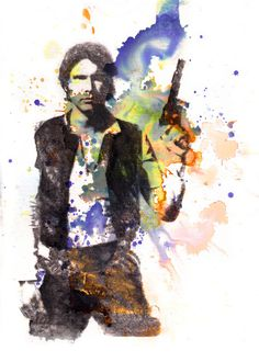 This one is also pretty sweet. Han Solo From Star Wars  Art Print