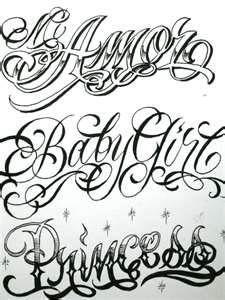 Tattoo Schriften Vorlagen - 40 Designs Posts | Chicano, Tattoo ...