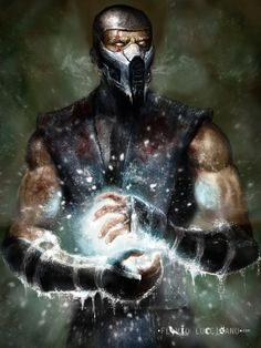 Mortal Kombat: Sub-Zero by Flavio Luccisano Sub Zero Mortal Kombat, Kitana Mortal Kombat, Mortal Kombat Art, Minions, Kung Lao, Mundo Dos Games, Mortal Combat, Mileena, Video X