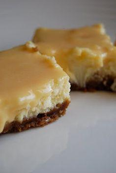 dulce de leche cheesecake bars - YUMMY!