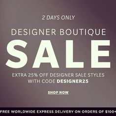 Designer Sale, Shop Now, Coding, Twitter, Instagram Posts, Fashion Design, Shopping, Style, Swag