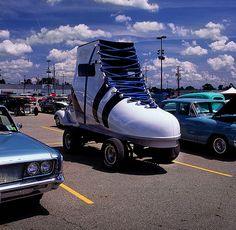 My sister and I saw ones of these driving down the road one day when we were young.  No one believed us!!