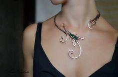 Halskette Schmuck Skorpion Scorpio Collier von AlenaStavtseva