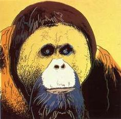Orangutan from Endangered Species Andy Warhol : ♦️More Pins Like This At FOSTERGINGER @ Pinterest♦️