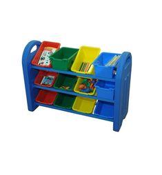 Kinderspielzeug Aufbewahrungsregal mit 12 Kunststoffboxen Montage, Wheelbarrow, Childcare, Children Toys