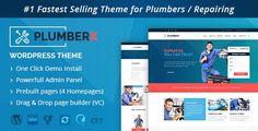 Plumber v2.49is designed specially for plumbers, electricians, handyman, roof repairing, other repairing and construction companies. Plumberx comes with a highly popular drag & drop page builder so that you can create your website easily with all features.  Plumber v2.49 WordPress Theme...