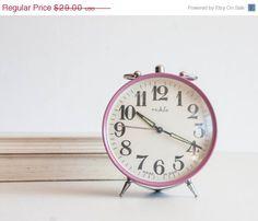 Purple Alarm Clock GDR Desk Clock Ruhla by TheThingsThatWere, $24.65