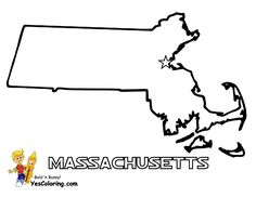 Massachusetts Map To Print Out At YesColoring
