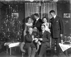 Christmas 1909, Buffalo, NY. (real candles on the tree). Candle clips and real Christmas tree candles available from www.christmasgiftsfromgermany.com