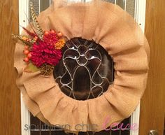 Southern Chic Love: fall ruffle wreath tutorial
