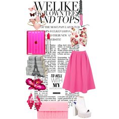 """""""Flowers and pink"""" by safiamode on Polyvore"""