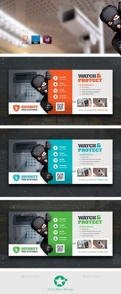 Security Systems Billboard Templates — Photoshop PSD #emergency #importance • Available here → https://graphicriver.net/item/security-systems-billboard-templates/10766850?ref=pxcr