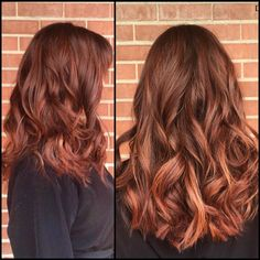 Trendy Hair Style 2017/2018 : Auburn balayage ombré with warm red and copper painted highlights insta: @dp_hairdesigns - #HairStyle https://youfashion.net/trends/hair-style/trendy-hair-style-auburn-balayage-ombre-with-warm-red-and-copper-painted-highlights-insta-dp_ha/