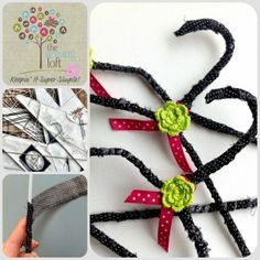 fabric covered hangers using 2 wire hangers together