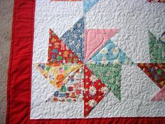 pinwheel, CUTE!... tutorial is put out by the Missouri Star Quilt company and is their Whack N Stack quilt