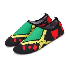 1 Pair Unisex Printed Summer New Swimming Light Aqua Shoes Water Shoes – Nimosha store