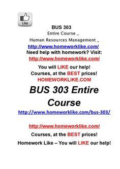 Bus 303 entire course human resources management