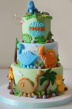 Dinosaur Birthday Cakes, Baby Birthday Cakes, Pretty Cakes, Cute Cakes, Bolo Dino, Dino Cake, Novelty Cakes, Occasion Cakes, Creative Cakes