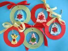 Super idea for Christmas tree decorations for children to make #Christmas