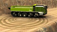 ETF developed a unique steering system. All wheels are steered at low to medium speeds reducing tyre wear while at higher speeds the last two axle lines gradually change to nearly rigid resulting in better stability. ETF trucks are equipped with a specia Dump Trucks, Tow Truck, Cool Trucks, Big Trucks, Monster Trucks, Automobile, Terrain Vehicle, Road Train, Engin