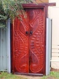 Seahorse carved doors.....of decal for pantry doors