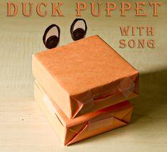 Duck Puppet for singing 5 Little Ducks!