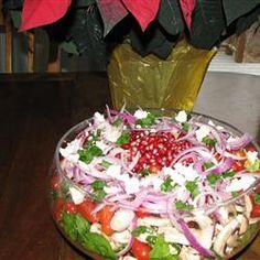Spinach Pomegranate Salad Allrecipes.com