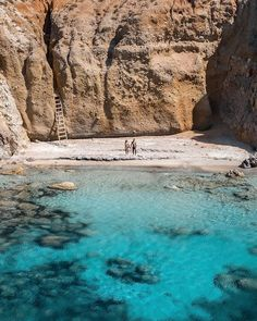 Is the beach private enough?  You can find it on Milos Island  Milos Greece  @followmypath  #travel #blogger #vacation #inspiration #traveltheworld #tourist #ideas #travelideas #bestplace #bestview #travellingthroughtheworld #hello_worldpics #living_destinations #thegreatplanet #earthpix #earthfocus #bestvacations #voyaged #milos #milosgreece #milosisland #cyclades #cyclades_islands #kiklades Best Vacations, Grand Canyon, Planets, Greece, Earth, World, Water, Islands, Travel
