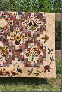 Sunflower Gatherings Quilt (Tamarack Shack)