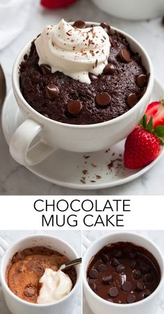 Microwave Chocolate Mug Cake - the ultimate super fast and amazingly easy dessert! It literally takes just minutes to prepare and cooks in just over 1 minute! I've made countless chocolate mug cakes and this one is my favorite