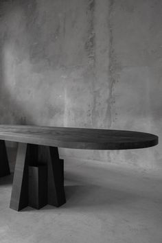 For Sale on - AD black oak dining table, hand-sculpted, signed Arno Declercq AD Table Measures: Small 340 cm W x 73 cm H x 105 cm D, W x H x