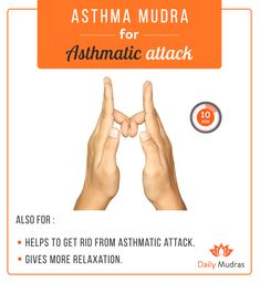 Acupuncture Asthma Mudra for Asthmatic attack. Meditation Exercises, Yoga Mantras, Yoga Exercises, Yoga Meditation, Zen Yoga, Finger Yoga, Asthma Symptoms, Qi Gong, Chakra Meditation