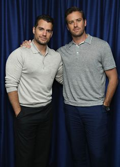 Henry Cavill and Armie Hammer